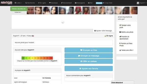 Interface utilisateur asiatique rencontre