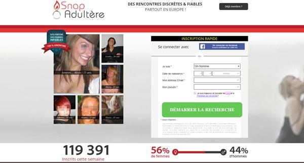 Avis Snap Adultere site rencontre coquine