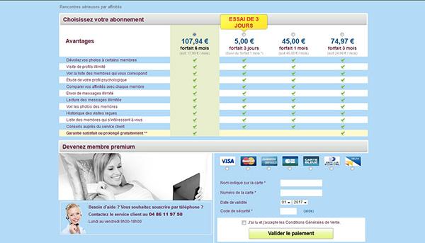 prix tarif abonnement rencontreslocales.com