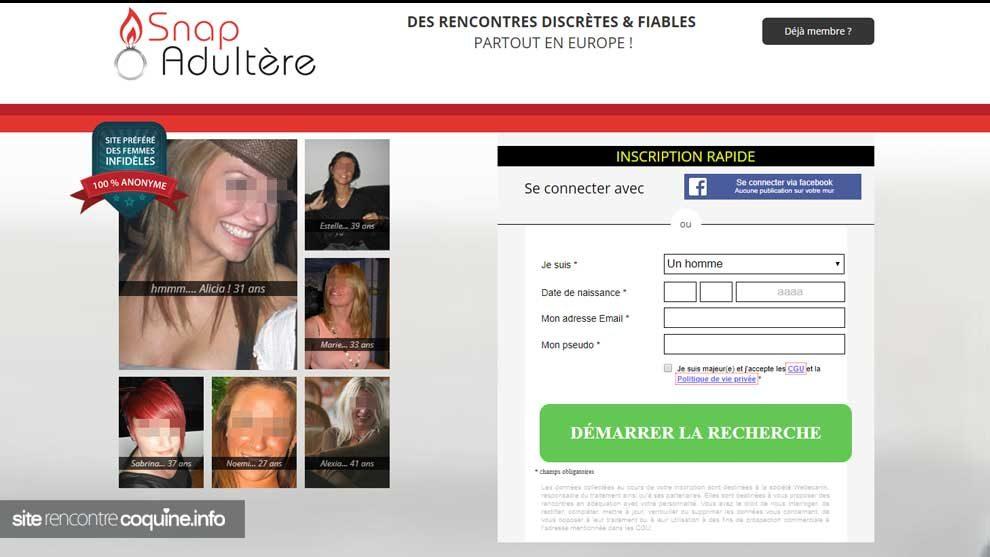 Avis Snap Aduletre site de rencontres extra-conjugal